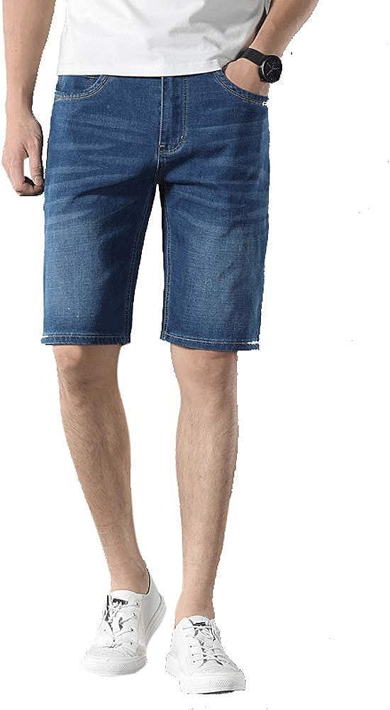 Arlita Men's Slim Fit Bermudas Denim Shorts Stretch Comfort Jean Short