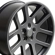 OE Wheels 22 Inch Fits Chrysler Aspen Dodge Dakota Durango Ram 1500 RAM SRT Style DG51 22x10 Rims Gunmetal SET