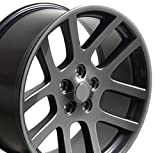 518gl6X6bwL. SL160 - OE Wheels LLC 22 Inch Fits Chrysler Aspen Dodge Dakota Durango Ram 1500 RAM SRT Style DG51 Gunmetal 22x10 Rim Hollander 2223
