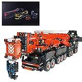 YIGE Technik Kran Liebherr LTM 11200, 7692 Teile 2.4G Mobiler Schwerlastkran Bausteine Bauset mit Ferngesteuert und Motors, Groß Klemmbausteine Kompatibel mit Lego Technik