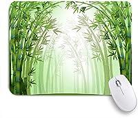 VAMIX マウスパッド 個性的 おしゃれ 柔軟 かわいい ゴム製裏面 ゲーミングマウスパッド PC ノートパソコン オフィス用 デスクマット 滑り止め 耐久性が良い おもしろいパターン (竹林パターン)