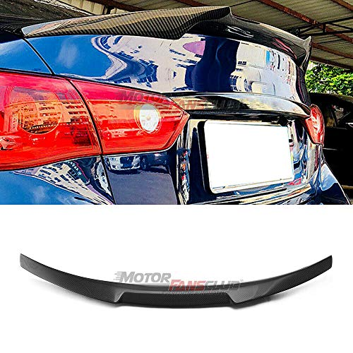 MotorFansClub Rear Spoiler Fit for Compatible with Infiniti Q50 Q50S Sedan M4 Style 2014-2020 Trunk Spoiler Wing (Real Carbon Fiber)
