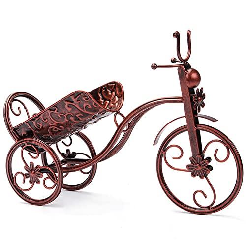 Botellero Estantes de Exhibición Creativos Del Vino de la Bicicleta, Organizador Del Tenedor de Botellas Del Armario de la Mesa de Entrada Del Gabinete de Tv, Mini Estante de Decoración de Escritorio