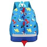 Fossen 3D Dinosaurio Mochilas Infantil Bolso Escolar para Niño Niña Primaria Guarderia (Azul)