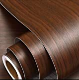 ✅ 1 Self Adhesive Wallpaper Sticker 45CM * 200CM ✅Finishing size: 45 CM X200 CM ✅QUALITY & PATTERN:-Matte finish | Pattern: Wooden Print | Color: Brown| Our decals are made of waterproof and durable material and these stickers will last for years wit...