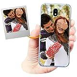 Funda Personalizada para Samsung Galaxy J5 2017 con tu Foto, Imagen o Escritura - Estuche Suave de Gel TPU Transparente - Impresión