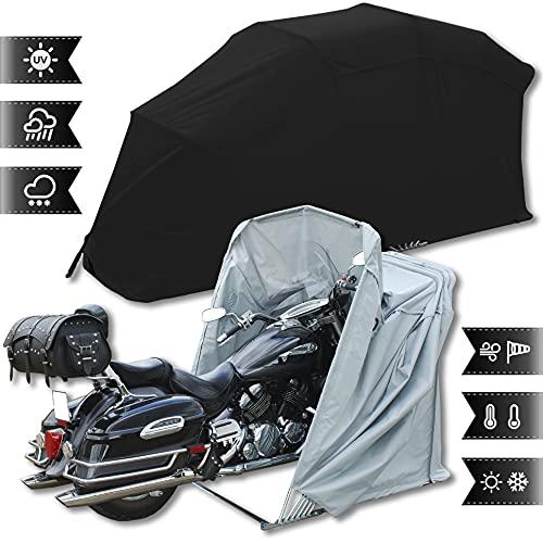 Motorradgarage Faltgarage Motorrad Roller Moped Garage Schutzplane Zelt Schwarz XL