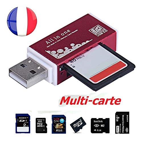 SimpliSIM: Reader - Adaptador USB multitarjeta de Memoria SD/SDHC/MMC/TFLASH/Micro SD/MS