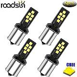 Roadsun 1156 bombilla LED P21W 15 2835 Bombilla LED CREE Chips Luz de señal de giro del coche Luz lateral DC12V 6000K Blanco, 4 piezas