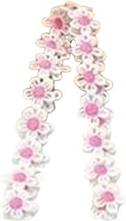 Plus Nao(プラスナオ) レースリボン フラワー 花 ワッペン アップリケ 手芸 刺繍 クラフト DIY 可愛い おしゃれ ピンク レッド ブルー
