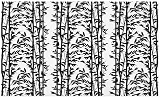 GugeABCmat Carpets Doormat,Monochrome Natural Inspirations with Bamboo Tree Growth Exotic Garden Zen Spa Art,Rubber Pretty Mat Non Slip Indoor Outdoor Doormat 30