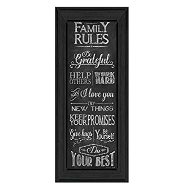 Family Rules  By Susan Ball, Printed Wall Art, Ready To Hang Framed Poster, Black Frame