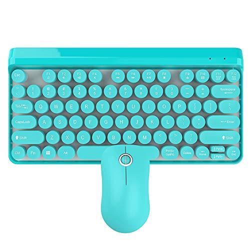 Decdeal HXSJ K67 Wireless Keyboard Mouse Set 2.4G Wireless Retro...