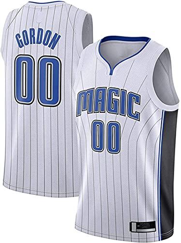 XSJY Jersey De Los Hombres De La NBA - Orlando Magic # 00 Aaron Gordon Edition Jersey, Unisex Retro Bordado Malla Jersey,B,L:175~180cm/75~85kg