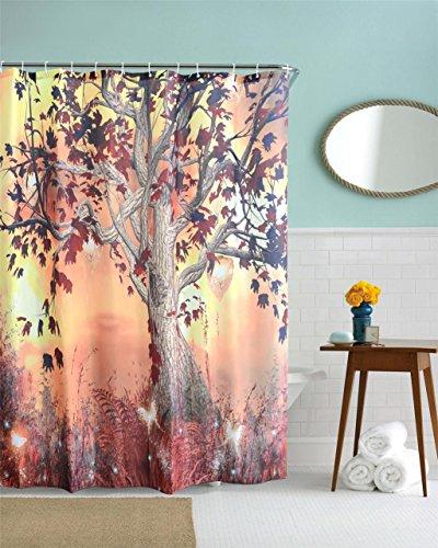 GYMNLJY Polyester 3D Baum verdicken Digital Druck wasserdicht Duschvorhang Duschvorhänge abgeschnitten hängenden Vorhang Blackout , 180*200cm