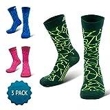 COMPRESSION FOR ATHLETES 3er Packung – CAMO Editions - Hochwertiger Quarter Socken von CFA Perfekt für alle Sportarten, Für Männer und Frauen. In der EU hergestellt. (Grün Camo...