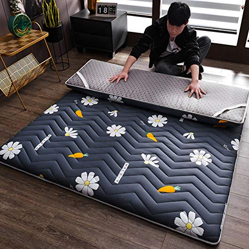 Folding Tatami Mattress Single Double Anti-Slip Floor Mat Sleeping Pad Nap Japanese Futon Mattresses for Living Room Dormitory A Queen