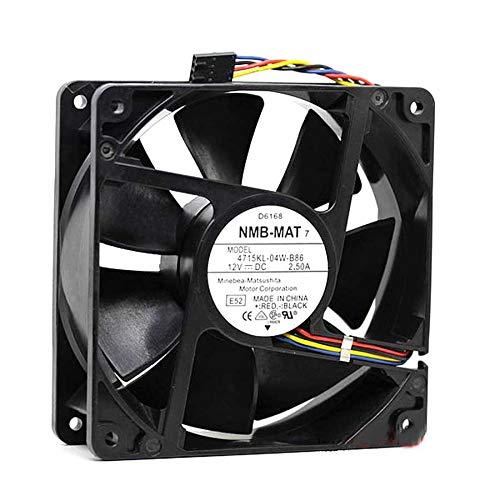 Cooling Fan NMB 4715KL-04W-B86,Server Cooler Fan NMB 4715KL-04W-B86 12V 2.5A, Inverter Cooling Fan for 120x120x38mm 4wire