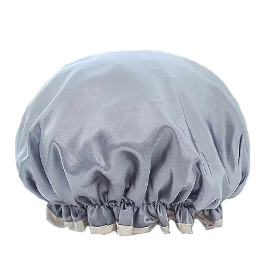 八百屋平均行進Maltose 化粧帽 ダブル防水シャワーキャップ ふわふわ柔軟 色落ちしない 2枚セット