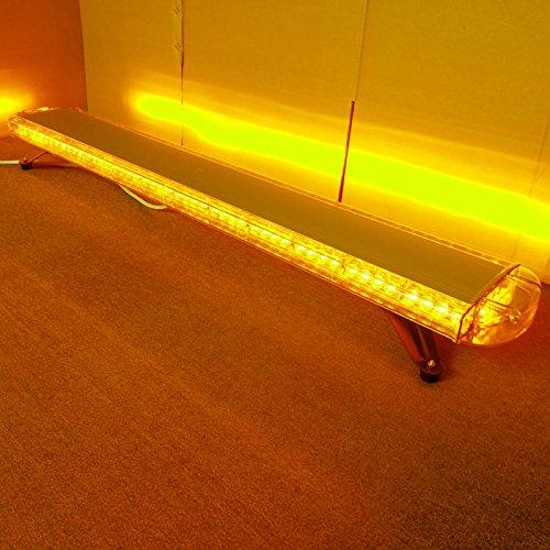 CFLMYYXGS 12V-24V 55'Inch 104 LED Wrecker Beacon Flashing Recovery LightBar Strobe Light Bar Emergency LED LightBar Amber LED Light