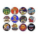 80's TV Cartoons Buttons Pins (set #2)