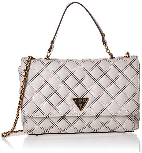 Guess Damen CESSILY Convertible XBODY Bags Flap, Stone Multi, Einheitsgröße