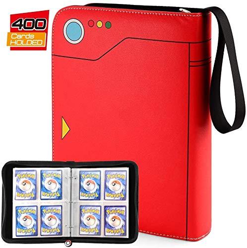 TCG Binder Kompatibel mit Pokemon Sammelkartenalben,Pokemon Karten Album mit Halter für Pokémon-Karten, Baseballkarten, Yu-Gi-Oh, Skylander, Top Trumps Y und Fußballkarte