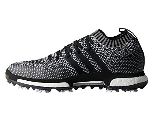 Adidas Tour360 Knit Hombre Golf Zapatos Trainers (UK 11.5 US 12 EU 46 2/3, Black Grey White F33629)