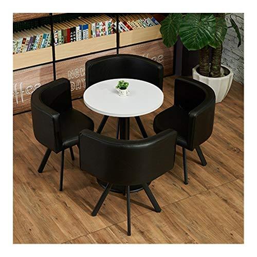 Qilo Café Sofá Asiento Moderno Ronda de Casa de los Cátedra de 5 Piezas de combinación Simple recepción del Cuero del Ocio Oficina Salón