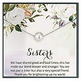 Collar de hermana entre hermanas, idea de regalo, joyería de dos hermanas, cita para mi hermana, hermana eterna.