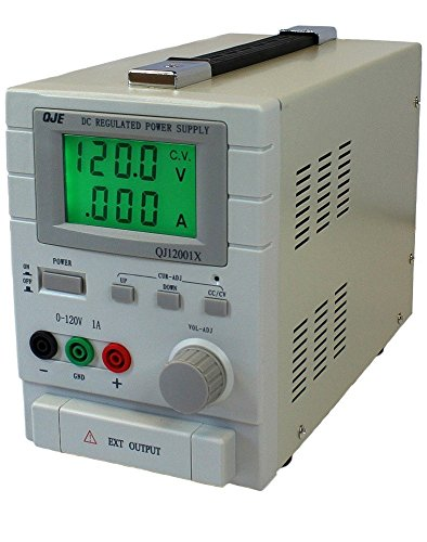 Komerci Labornetzgerät, Netzteil, Stromversorgung, Trafo, regelbar, Digitalanzeige, 0-120V, 1A, 120W, QJ12001X, Hellgrau