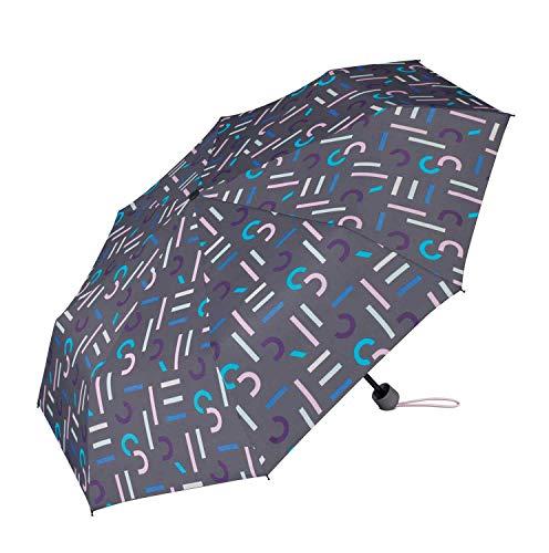 Esprit Taschenschirm Super Mini mit Shopper Bag - Grey