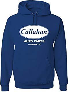 Wild Bobby Callahan Auto Parts Sandusky Ohio Retro 90s Funny Tommy Boy | Mens Pop Culture Hooded Sweatshirt Graphic Hoodie