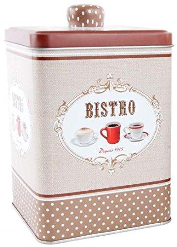 AVENUELAFAYETTE Boîte Pot métal déco rétro Vintage café Bistro (Marron)