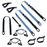 Exercise Smarter Suspension Straps Fitness Trainer Kit and Resistance Bands Training Professional Home Gym  ...