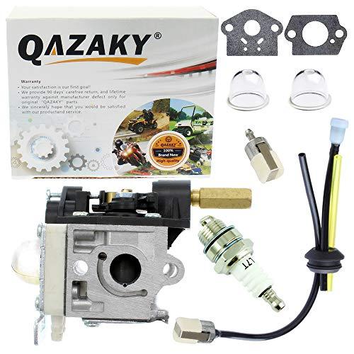 QAZAKY Reemplazo del kit de carburador para Zama RB-K112 Echo SRM-266 SRM-266S SRM-266T SRM-266U PPT-266 PPT-266H PE-266 PE-266S PAS-266 SHC-266 HCA-266 Desbrozadora de hilo Carb A021003830 A021003831