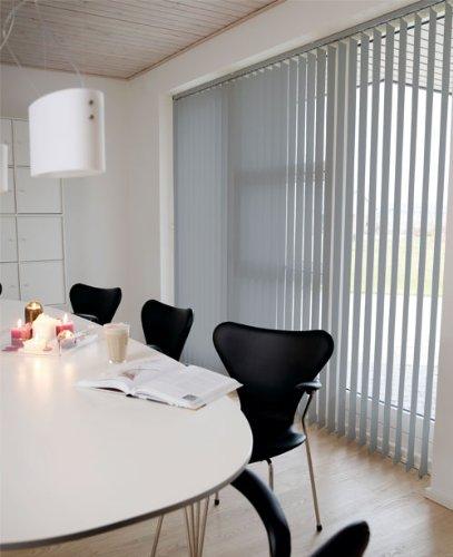 Der Jalousienladen Lamellenvorhang/Vertikalanlage LINE ~ Farbe: grau ~ (BxH): 100x250 cm ~ Vertikaljalousie/Vertikalanlage ~ Lamellenbreite: 89mm