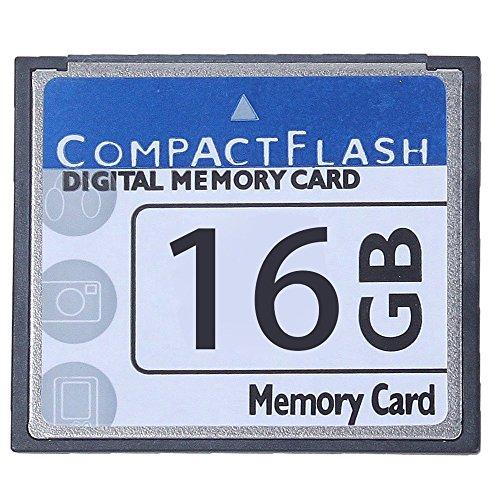 WOVELOT Professional Tarjeta De Memoria Compact Flash De 16GB (Blanco & Azul)