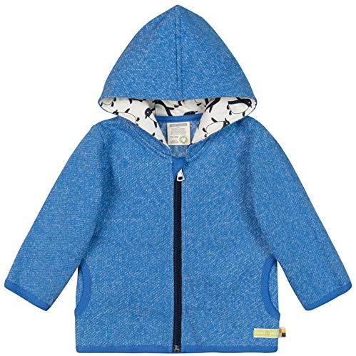 loud + proud Jungen Jacke In Melange Strick Aus Bio Baumwolle, GOTS Zertifiziert Sweatjacke, Blau (Cobalt Cob), 68 (Herstellergröße: 62/68)