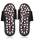 Acupressure Massage Slippers, Foot Acupressure Massager for Women and Men, Feet Care Reflexology Sandals Sore Plantar Fasciitis Arch Arthritis Neuropathy Pain Relief