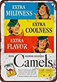 Home House Coffee Beer Drink Bar Decor 12'x16'1941 Camello Cigarrillos,Vintage Look Reproduction Metal Sign for Home Wall Art Post Plaque for Women Men