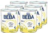 Nestlé BEBA 1 Anfangsmilch, Anfangsnahrung von Geburt an, 6er Pack (6 x 800g)