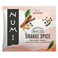 Numi Organic Tea Orange Spice, 100 Count Box of Tea Bags, White Tea (Packaging May Vary)