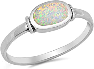 Best simulated opal ring Reviews
