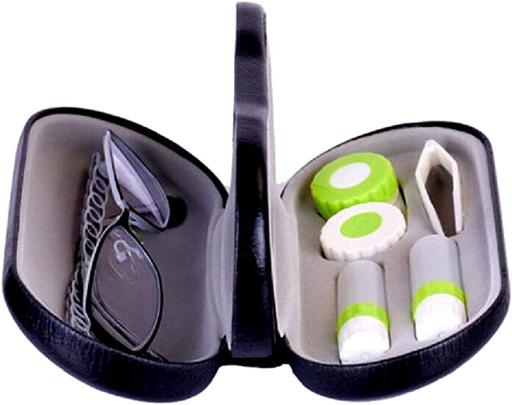 Contact Lens Case 2 in 1 Dual Eyeglasses Case, Double Sided Portable Glasses Case for Travel Kit