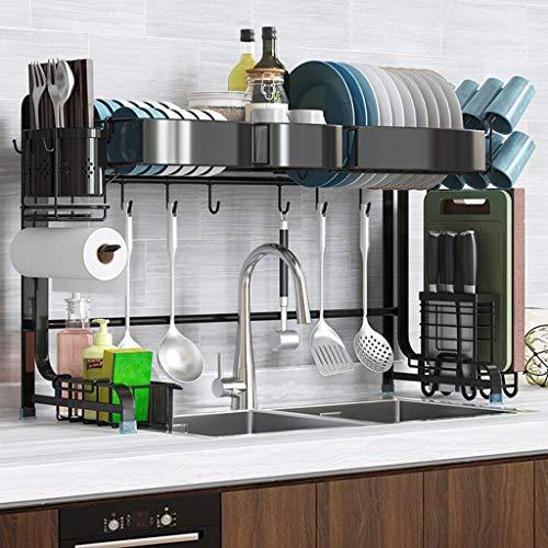 WRMIGN Rejilla para secar Platos sobre el Fregadero, Rejilla para Platos de Acero Inoxidable Resistente y Duradero 72 Horas Prueba antioxidante Maximiza el Espacio de la Cocina Fácil de Montar
