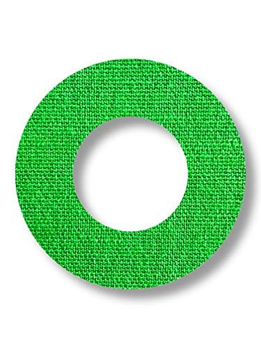 FixTape atmungsaktive Sensor-Tape-Ringe für Freestyle Libre 1 & 2 I runde selbstklebende Patches mit Loch für Glukose-Sensor I hoher Trage-Komfort I hautfreundlich wasserfest I 7 Stück (Grün)