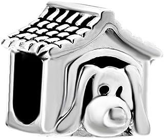 korliya – Caseta de perro 925 plata esterlina cuentas para pulsera