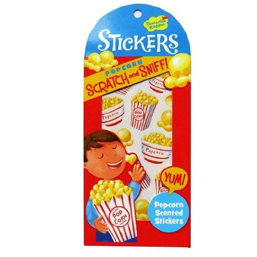 Peaceable Kingdom Kratzer und Atemzug Aufkleber - Popcorn - Popcorn Duft