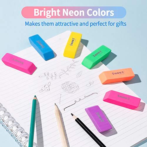 Sooez Pencil Eraser, 12 Pack Pencil Eraser for Kids, Pencil Erasers Bulk, Large Eraser for Drawing, Colorful Erasers, Big Erasers for School Classrooms, Teachers, Kids, Office, Art Class Photo #6
